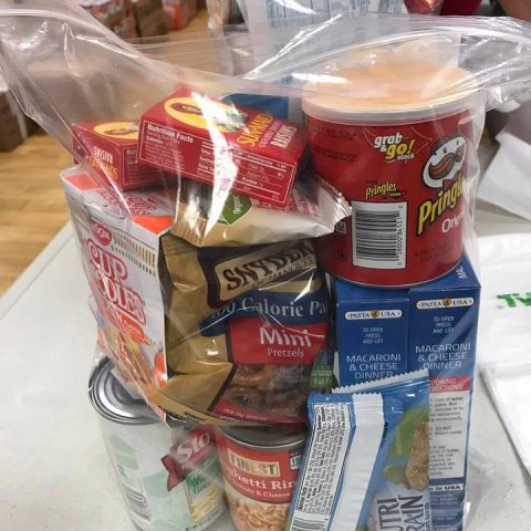 Food kit in a zip lock bag. Some administrations have concerns on getting started with distributing the kits.