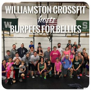 Group photo of participants in last year's Burpees for Bellies