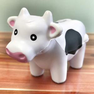 Little Cow stress squeezy, fund raising milk campaign