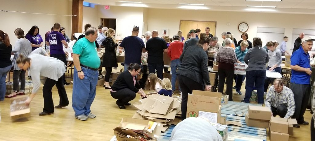 This is a recent Volunteer Kit Packing Session - Okemos