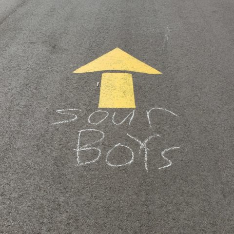 Sour Boys sign to benefit Weekend Survival Kits
