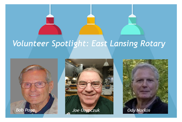 Volunteer Spotlight graphic with photos of interviewees.